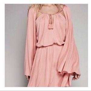 Free People | Coral Boho Jersey Dress